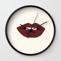 megan lara Wall Clocks featuring Lara by missie