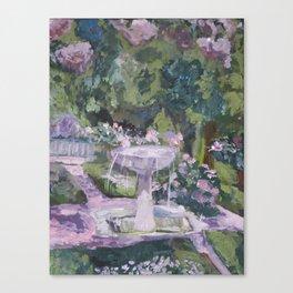 Spring garden, impressionist painting, Sorolla interpretation Canvas Print