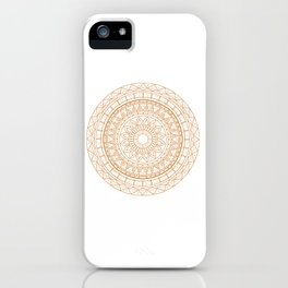 Mandala Gold Uneasy Artist iPhone Case