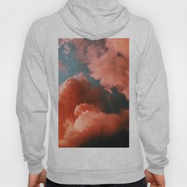 Orange and blue abstract clouds Hoody