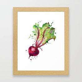 Juicy beet Framed Art Print