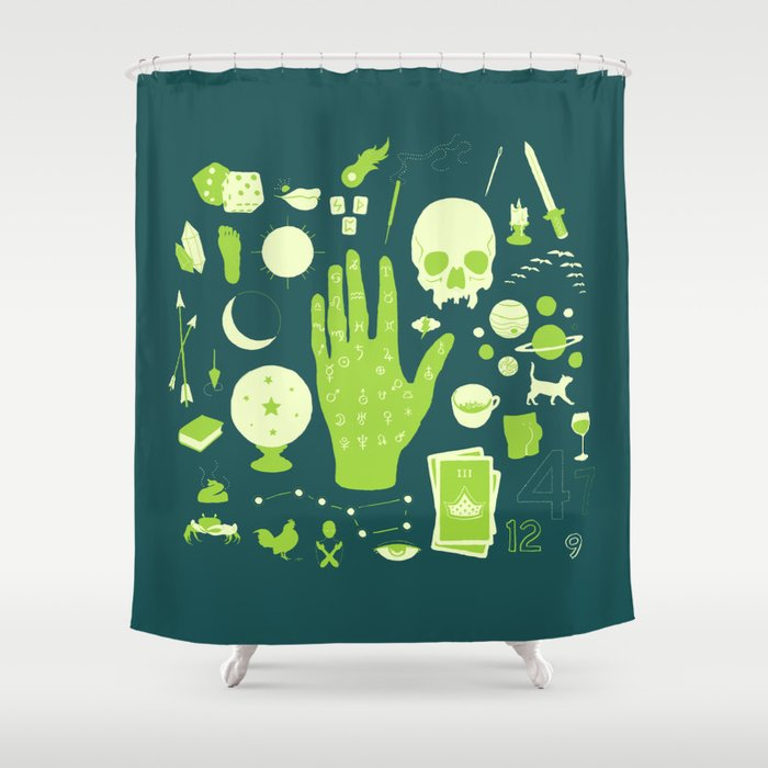 Green Shower Curtain By