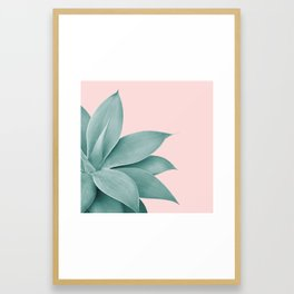 Agave Finesse #3 #tropical #decor #art #society6 Framed Art Print
