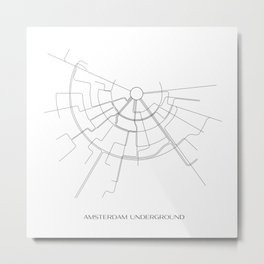 Amsterdam Underground Map Metal Print