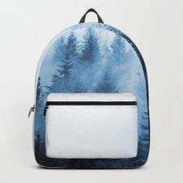 Misty Winter Forest Backpack