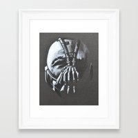 bane Framed Art Prints featuring BANE by Lady Gabe