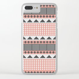 Pluses and triangles Clear iPhone Case