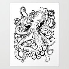 octo illustration Art Print