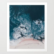 I love the sea - written on the beach Art Print
