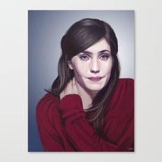 Laura Verlinden, Belgian actress Canvas Print