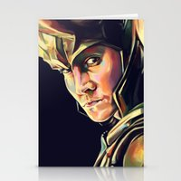 loki Stationery Cards featuring Loki by Kelly Angel