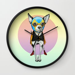 Chihuahua - Luchador  Wall Clock