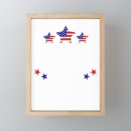 Party in he USA 4th of July Patriotic Independence Framed Mini Art Print