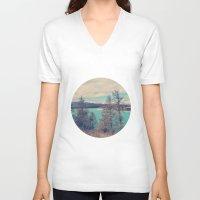 serenity V-neck T-shirts featuring Serenity by yuvalaltman