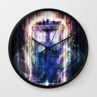 tardis Wall Clocks featuring Tardis by jasric