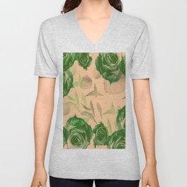 Floating Roses and Petals Unisex V-Neck