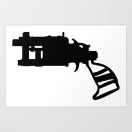 Pipe Revolver  Art Print