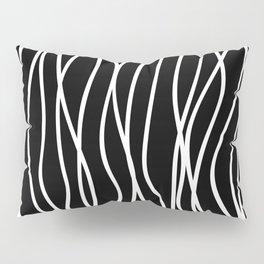 White lines on black background Pillow Sham