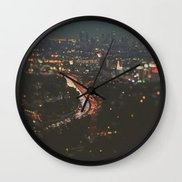 L.A. Skyline. Stardust Wall Clock