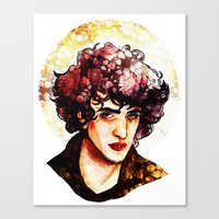 grantaire Canvas Prints featuring Grantaire watercolour by chazstity