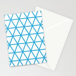 Blue Triangle Pattern 2 Stationery Cards