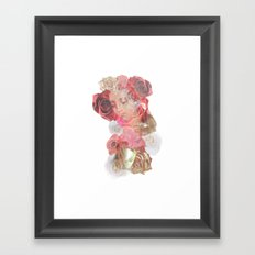 La Virgen de Guadalupe series: Las Rosas Framed Art Print