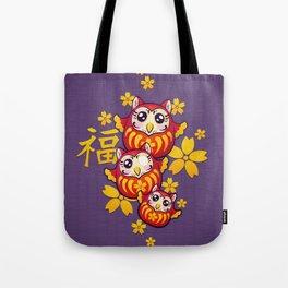 Owl Daruma Tote Bag