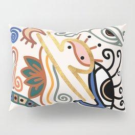 Abstract Libra Zodiac Sign Pillow Sham