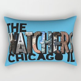 The Watchers of Chicago Illinois Big Letter Rectangular Pillow