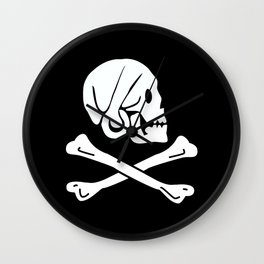 Henry Every Pirate Flag - Jolly Roger Skull Wall Clock