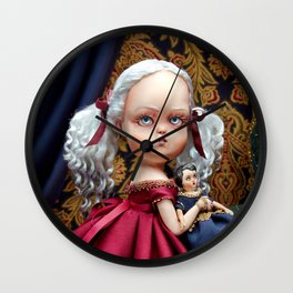 Annabelle White Wall Clock