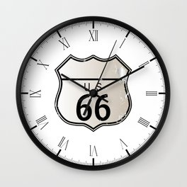 Blank Route 66 Sign Wall Clock