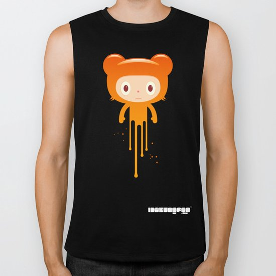 melting moment stare bear Biker Tank