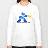 mega man Long Sleeve T-shirts featuring Mega Man Lemons by RetroGamerJay