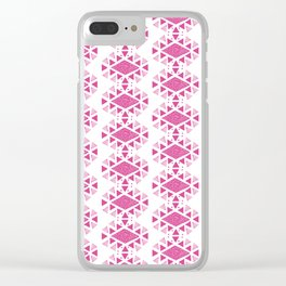 Monlay Pink, Mountain lines, Geometric Clear iPhone Case