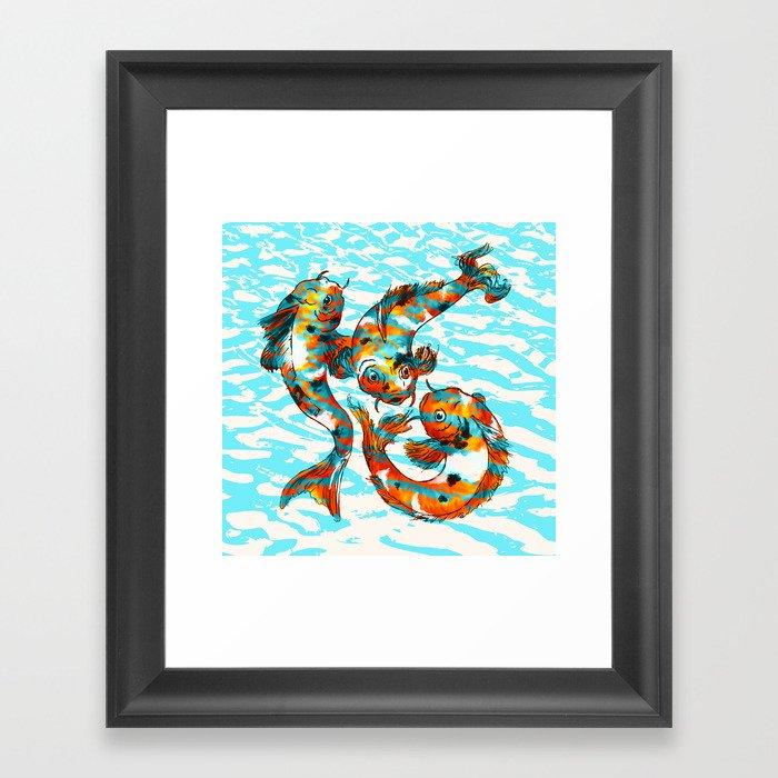 Three Koi Carp Framed Art Print