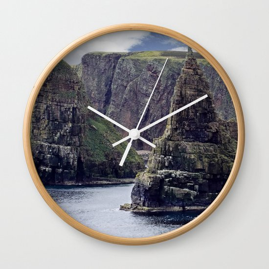 Sea Stacks at Duncansby Head Wall Clock