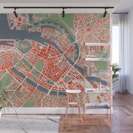 Copenhagen city map classic Wall Mural