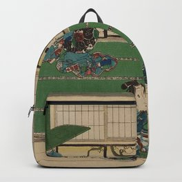 The Tale of Genji Poster Japanese Print Backpack