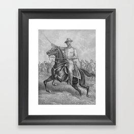 Colonel Theodore Roosevelt On Horseback Framed Art Print