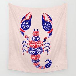 Patriotic Scorpion Wall Tapestry