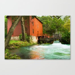The Mill at Alley Spring - Eminence Missouri Canvas Print