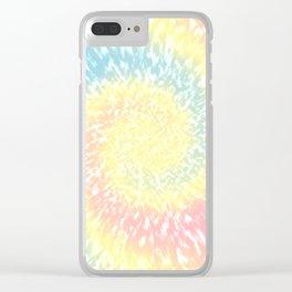 Pastel Tie Dye Texture Clear iPhone Case