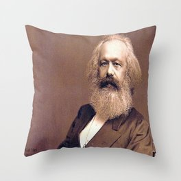 Portrait of Karl Marx by John Jabez Edwin Mayal Throw Pillow