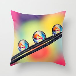 Bits Bobs and Buttons Throw Pillow