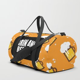 grin and beer it funny saying and quotes Duffle Bag