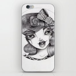 JennyMannoArt Graphite Illustration/Wilma iPhone Skin