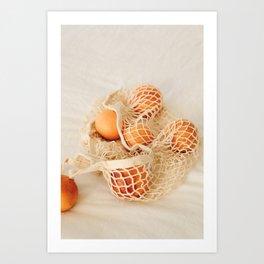 Orange fruit Art Print