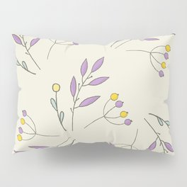 Flowers and Plants Pattern Pillow Sham