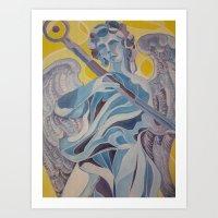 nico di angelo Art Prints featuring angelo by Dania Beatriz Jimenez